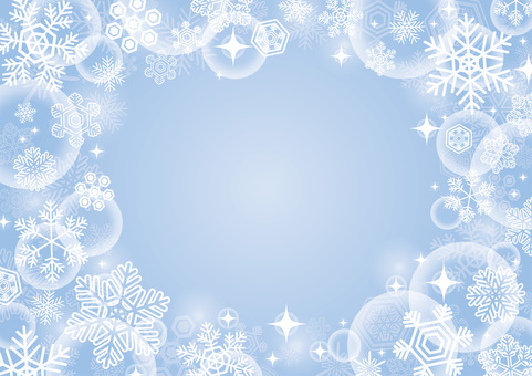 Christmas snow background blue