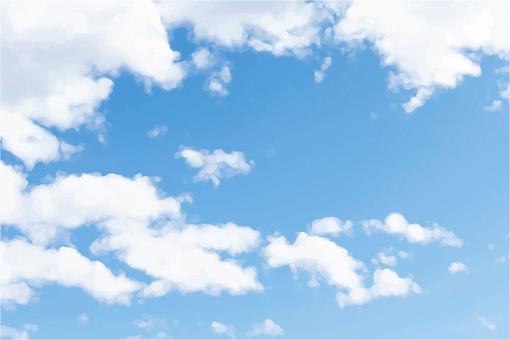 烏雲和藍天