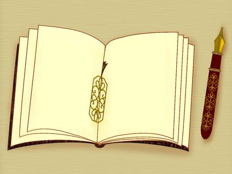 時尚的筆記本和鋼筆