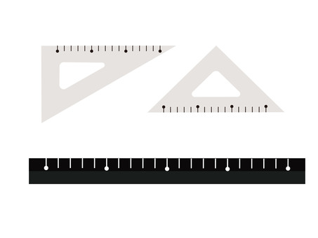 Triangle ruler / ruler