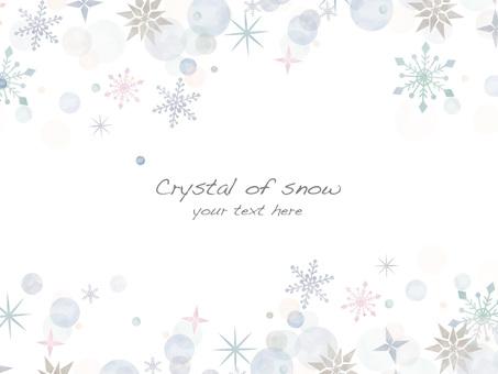 Snow crystal frame ver 26