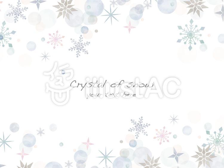 雪の結晶フレームver26のイラスト