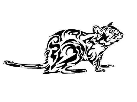 單色藝術鼠