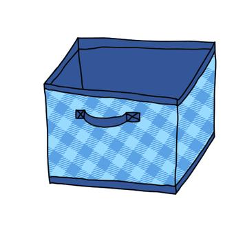 Storage box blue