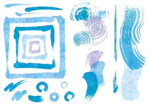 Watercolor brush touch CS2 blue system