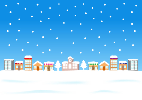 Snowing town - 1