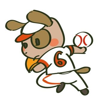 Dog playing baseball