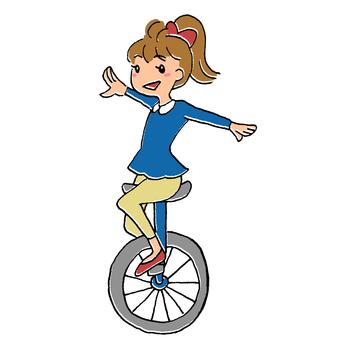 Unicycle girl