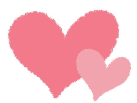 Cuddling slim heart