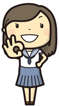 Female student OK!