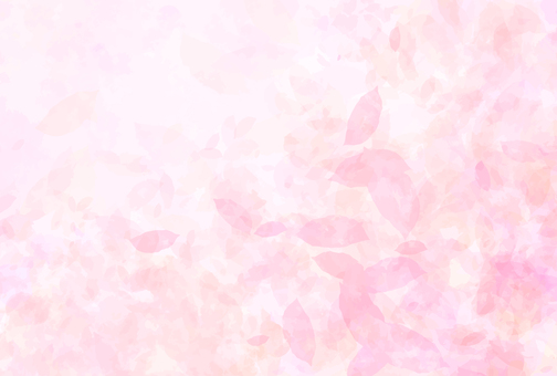 Beautiful watercolor background painting with leaves dancing (pink)