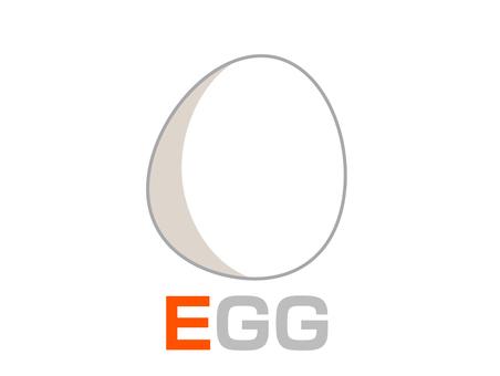 English word card E EGG