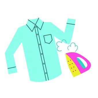 Shirt and iron