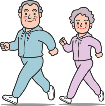 Senior health jogging 1