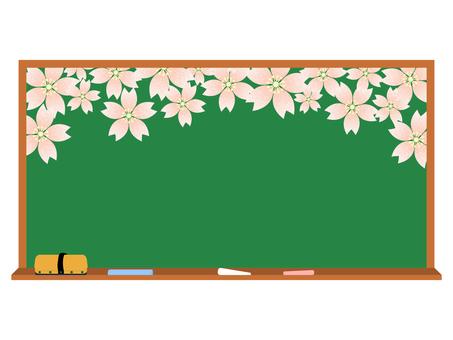 칠판 벚꽃 1