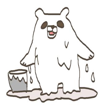 Panda became white bear