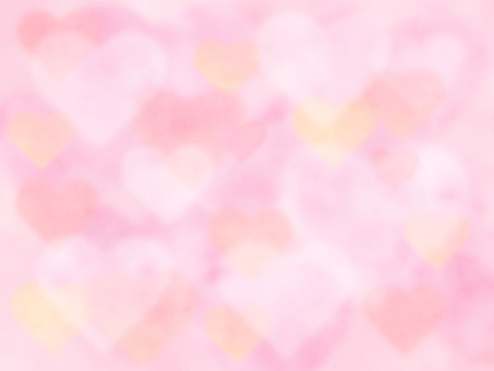 [Watercolor texture] Soft heart background