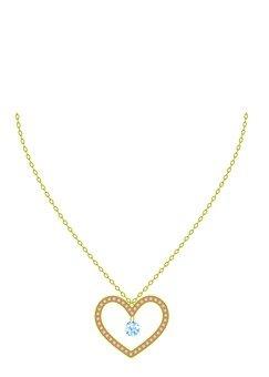 Heart motif diamond necklace