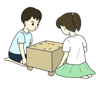 Boys and girls playing shogi 1