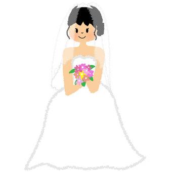 Wedding dress (veil)