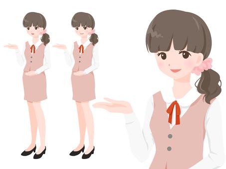OL wearing pink uniform 【mayu】