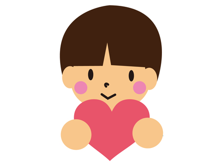 A boy with a heart