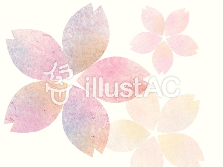 【フリーイラスト素材】和風桜模様