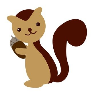 Squirrel with scorpion