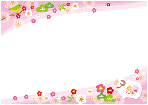 New Year's frame (pink)