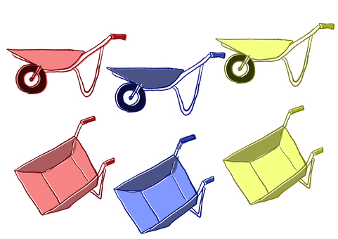 Agricultural wheelbarrow