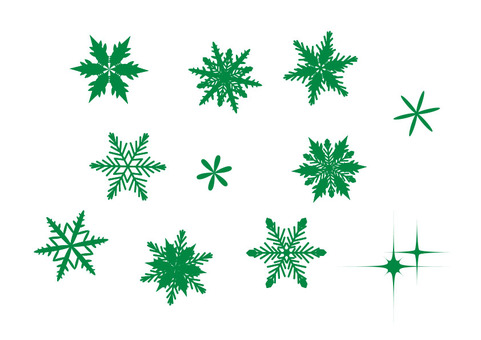 Snow crystal green 2