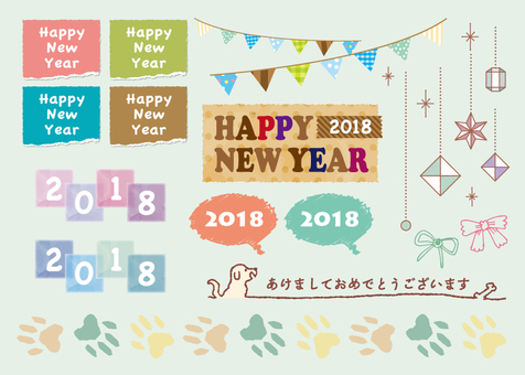 New Year's card material 2