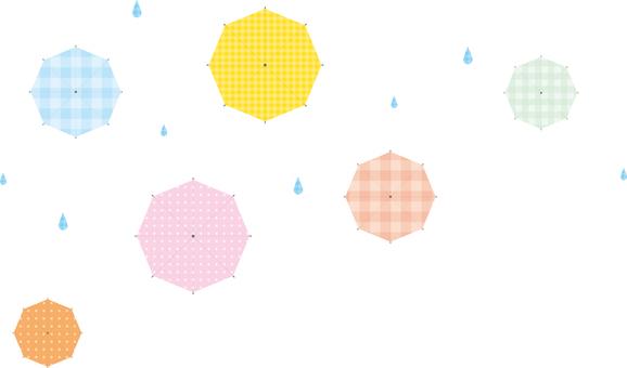 우산 위에서