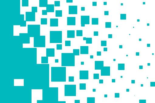 Blue rectangular dot gradient background