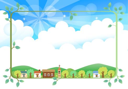 Background House frame