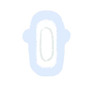 Sanitary napkin normal daytime blue