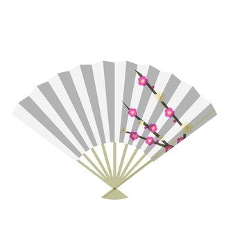 Fan (plum on white background)