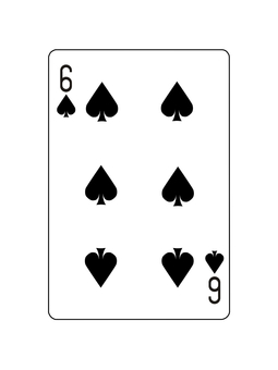 6 of playing cards spades