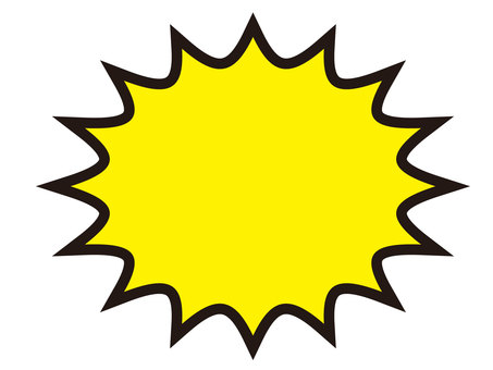 Amekomi style speech bubble (yellow)