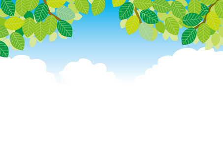 Background for fresh green and blue sky title back