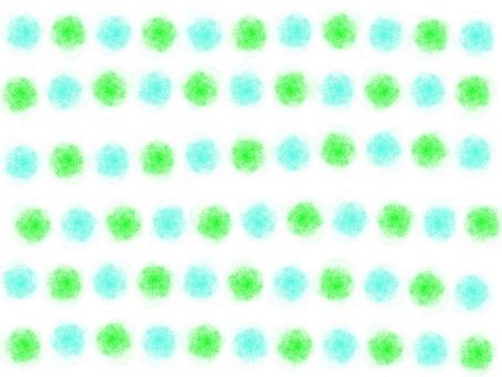 Hand-painted feng shui ball (blue × green)