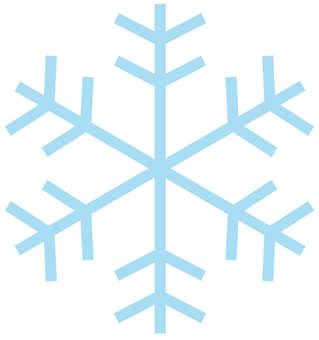 Light hollow snow crystal