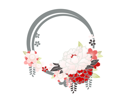 Wakana flower red + peach