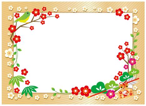 新年の飾りフレーム亥年