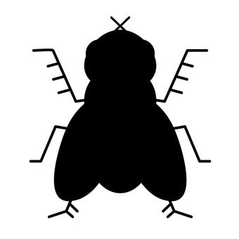 Flies silhouette