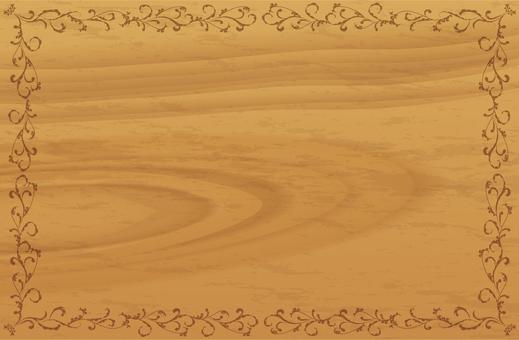 Woodgrain decorative frame