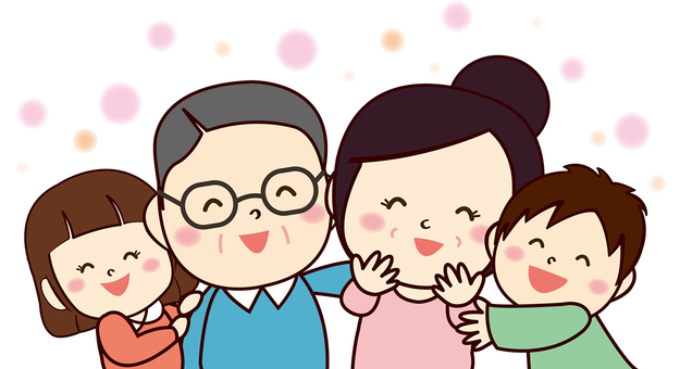 Senior Citizen's Day Grandparents and grandchild illustrations