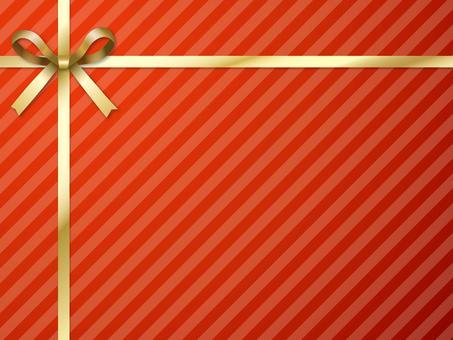 "Gift frame ""Red & Gold"""
