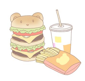 Hamburger set large