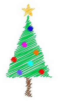 Graffiti-style Christmas tree